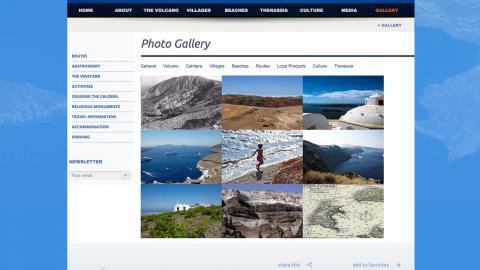 Santorini web site