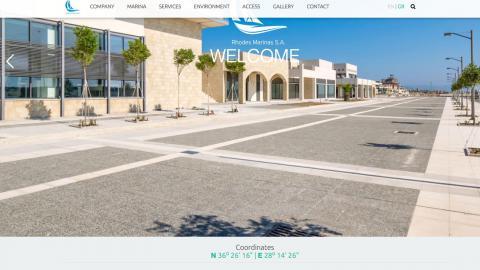 Rhodes Marinas web site
